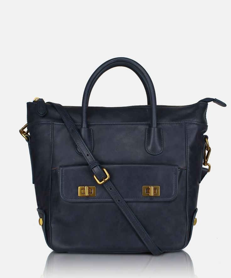 Bag GA Sfera D1360304 Ming Blue. Women's leather hand bag by Giorgio Agnelli.