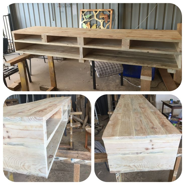 Wooden Pallet TV Cabinet / Media Console 2.1m (w) X 45cm (h) X 50cm (d)