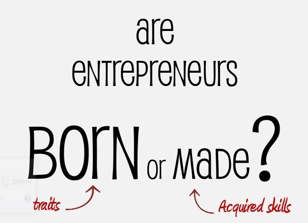 """Entrepreneurs Are Born and Not Nurtured In my point of view every debate has to sides, and """"what born an entrepreneur"""" but according to the arguments from previous many decades neither side capable to finally prove their case. According to many ..."""