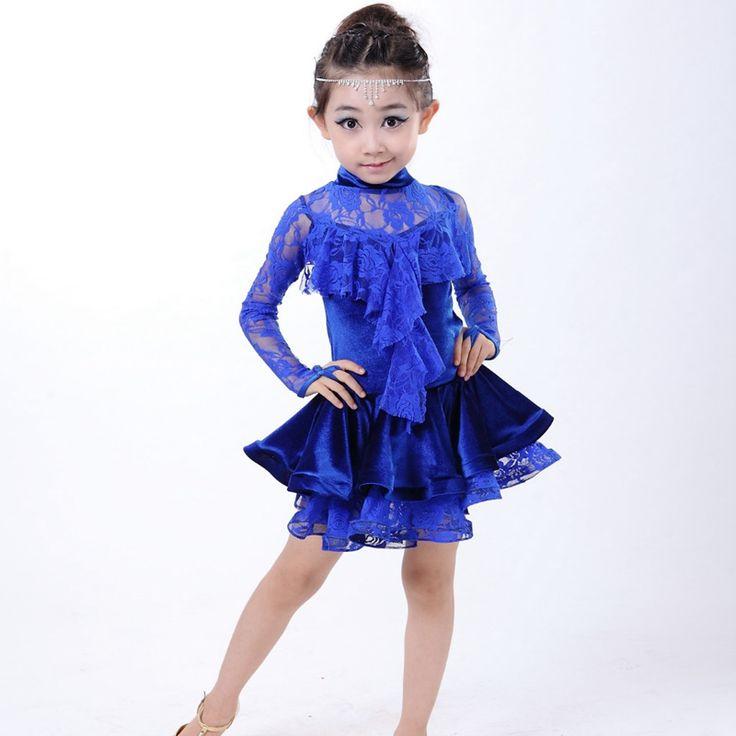 Latin Dance Dress For Girls Lace Top&Skirt Dance Wear Vestido De Baile Latino Kids Dance Costumes Practice/Competition Dresses