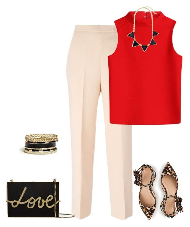 outfit 3009 by natalyag on Polyvore featuring Courrèges, MSGM, J.Crew, Lanvin and GUESS