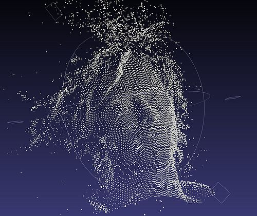 Thom Yorke's point cloud data (from House of Cards) by Tiago Serra, via Flickr