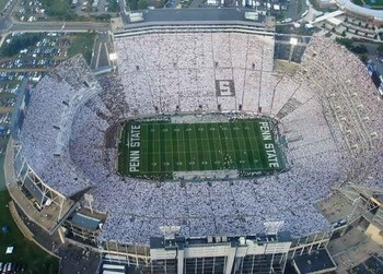 White-out at Penn State's Beaver Stadium.