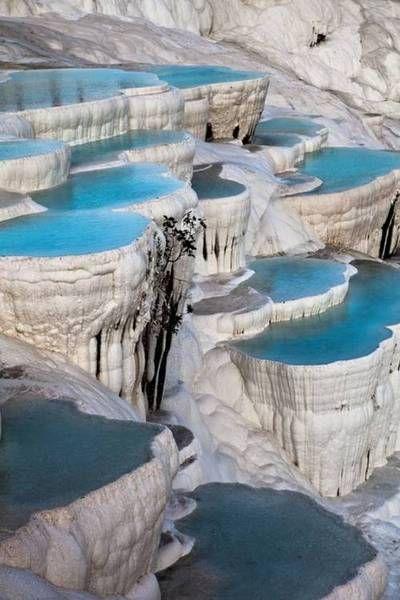 Natural terrace pool, Pamukkale, Turkey
