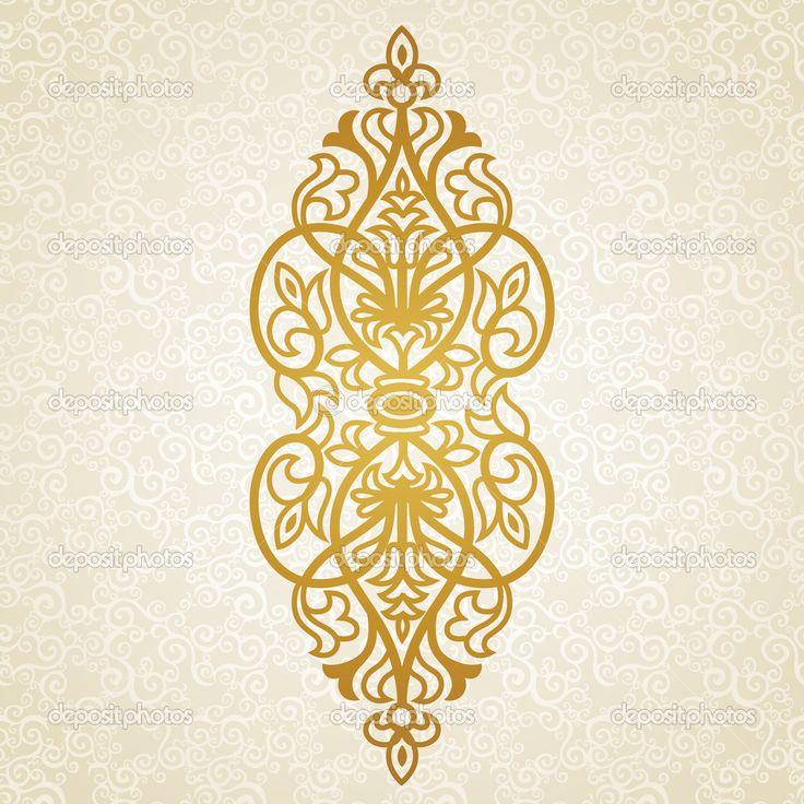 Вектор барокко орнамент в викторианском стиле. - Векторная картинка: 39760949