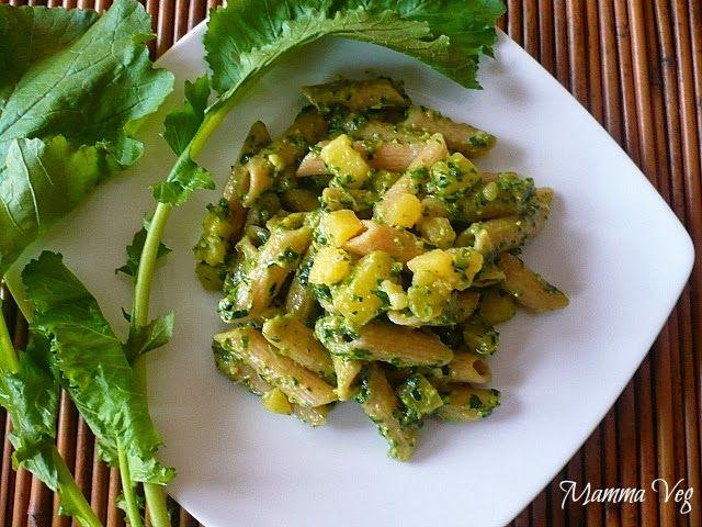 Mamma Veg: Pennette al pesto autunnale con pistacchi e patate