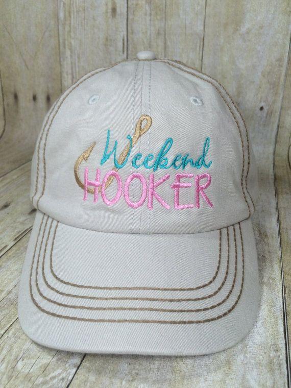 Weekend Hooker Baseball Cap Ladies Fishing Hat by SewFancyByPaige