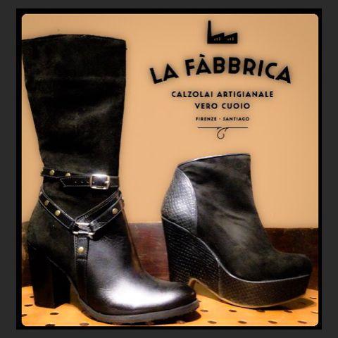 Botas y botines de cuero combinados con gamuza  #boots #black #booties #leather #design #moda #mujer