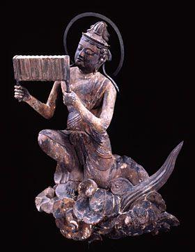 Japanese National Treasure, Statue of Unchu Kuyo Bosatsu 雲中供養菩薩像 南1号像(平等院)