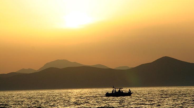 Sonnenuntergang direkt vor unserem Hotel. Griechenland, Insel Kos.
