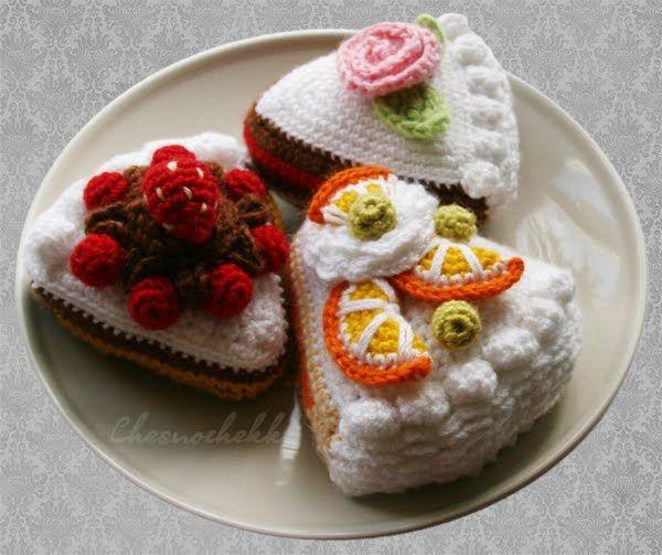 Вязаные пирожные и торты - Вещи для дома и интерьера - Схемы вязания - Авторский проект Натальи Грухиной