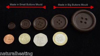 BUTTONS Chocolate Candy Mold Cupcakes Topper Silicone Bakeware Mould Sugarpaste | eBay
