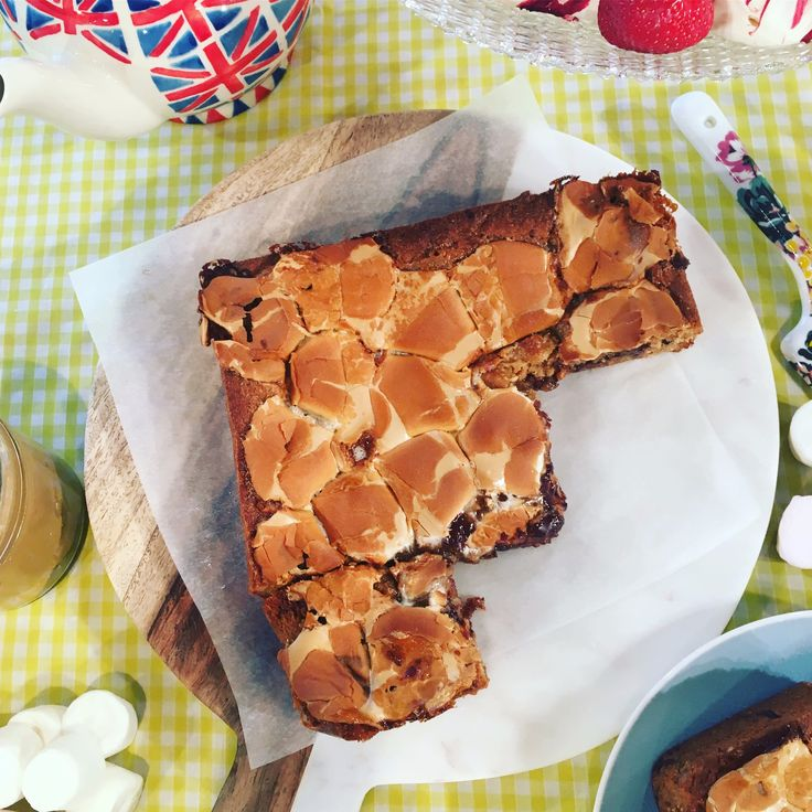 Candice's peanut butter and marshmallow blondies