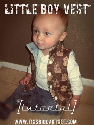 DIY - Little Boy Vest