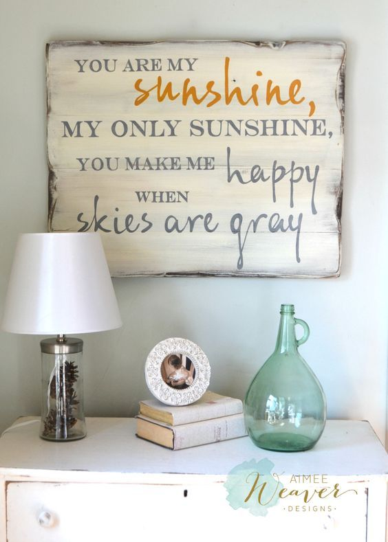 """Pin By Aimee Weaver Designs: """"You Are My Sunshine"""" Wood Sign 24x30 {customizable"""
