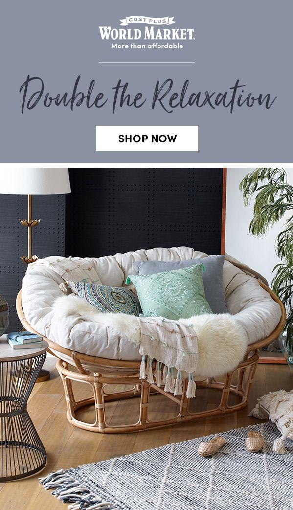 Light Rattan Double Papasan Chair Frame Papasan Chair Papasan Chair Living Room World Market Furniture