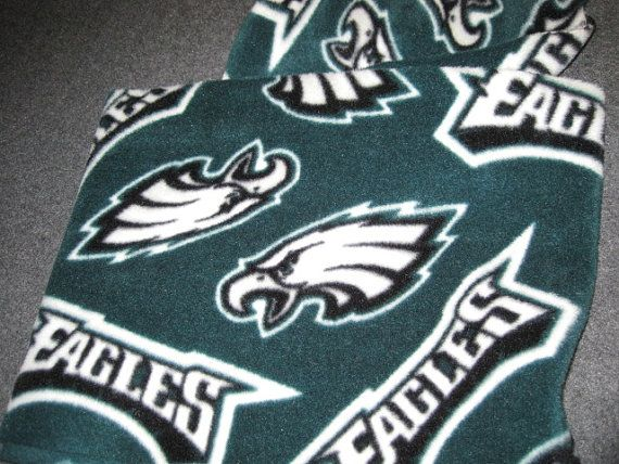 Philadelphia Eagles Football Logos on Green by CutnTiedbyRedYvette, $6.00