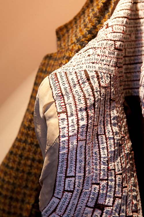 Fine craft, text and tweed - Public Art House | Shelly Goldsmith - The Lovers