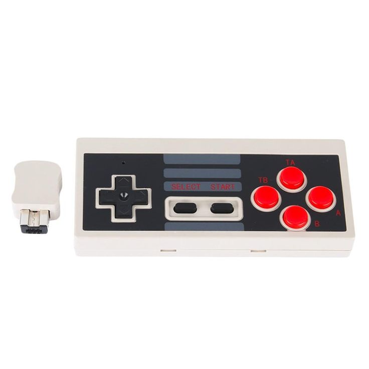 Wireless USB Plug and Play Gaming Controller Gamepad Mini Buttons Classic Edition for Nintendo for NES With Wireless Receiver