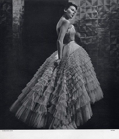 Christian Dior Evening Gown, Photo by Philippe Pottier