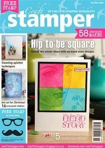 Craft Stamper Magazine Nov 2013 issue