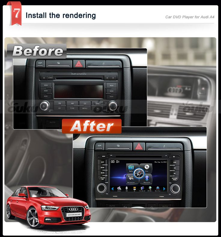 Camera Gps 7 Quot Audi A4 2003 2008 Car Dvd Player Stereo