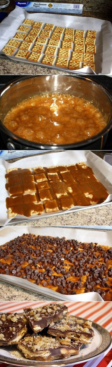 Cracker Toffee - Use gluten-free crackers