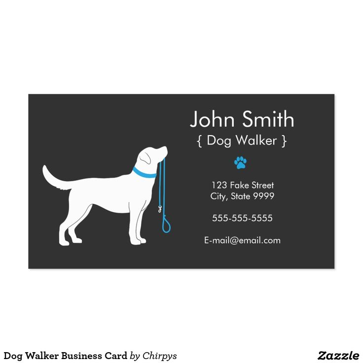 Comfortable Dog Walker Business Card Images - Business Card Ideas ...