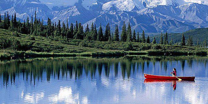Λίμνη στην Αλάσκα