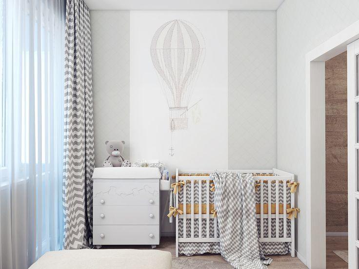 Милая квартира для молодой пары и малыша - 3D-проект компактного пространства   PINWIN - конкурсы для архитекторов, дизайнеров, декораторов