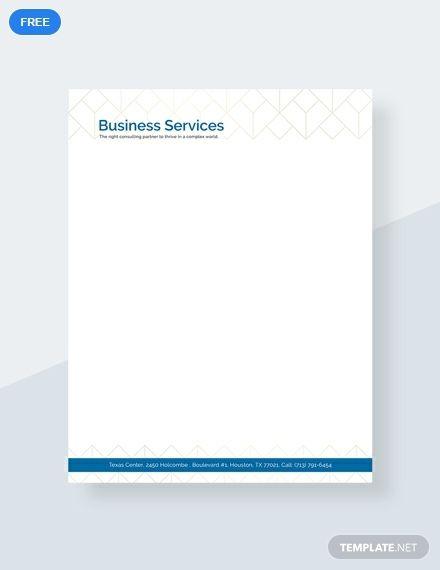 Free Business Letterhead in 2019 Easy Letterhead Template
