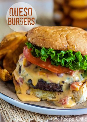 Queso Burgers by The Recipe Critic