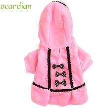Ocardian hond jas warm huisdieren kleding winter hond kleding voor kleine hond hoodies u61110(China (Mainland))
