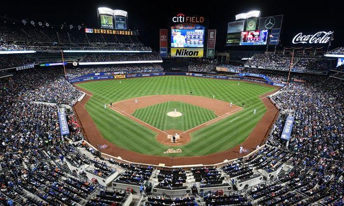 New York Mets - Citi Field -- toward scoreboard, at night -- New York Mets Game -- Groupon -- 5-3-17