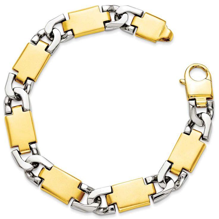 14k Yellow Gold Polished Gold Fancy Link Bracelet