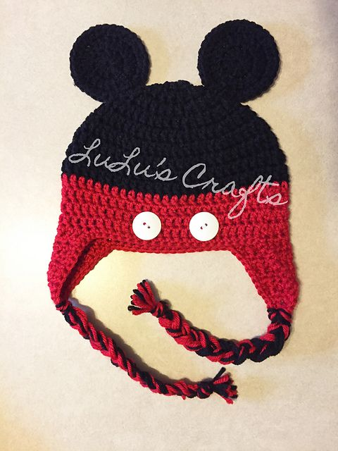 FREE Ravelry: Minnie Mouse Toddler Hat pattern by Kelsey Bieker Crochet Hat...