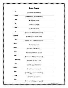 Students could use this I Am Poem template to describe themselves. It could also be used to describe any character from a story or from history. More abstractly, it could be used to describe a concept in math, science or art. The poem template could also be used to help teach the parts of speech.