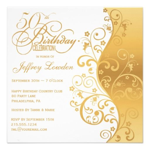 24 Best 50Th Birthday Invitation Templates Images On