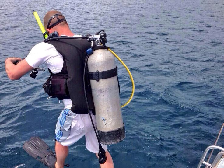 One of our crew all equipped to film underwater in the caribbean. #subaqua #caribbean #diving #dive #gopro