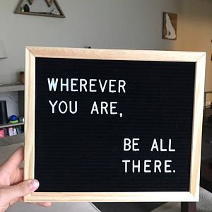 """Felt Letter Board 9.5 x 11"""" - 286 letters - Black & Gray- home decor, bridesmaids gifts, wedding gift, modern farmhouse You may have seen these flyin..."""