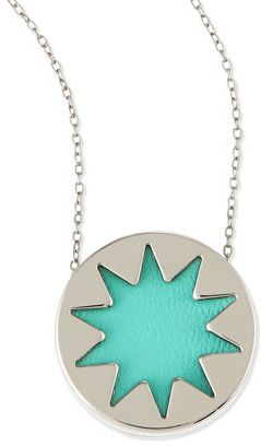 House Of Harlow Mini Sunburst Pendant Necklace, Robin's Egg Blue (Stylist Pick!) on shopstyle.com
