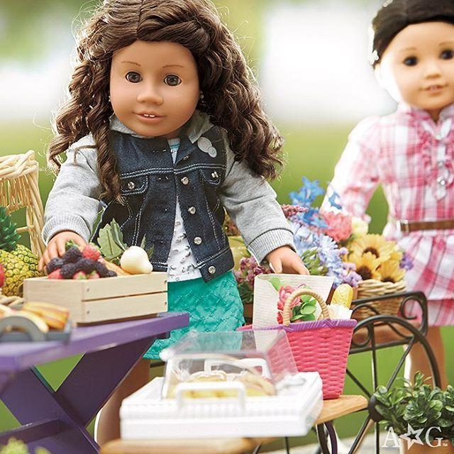 AG dolls enjoying a yummy lunch together.