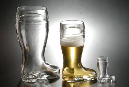 Lustiger Bierstiefel für ein ganzes Maß Bier von Stölzle Lausitz!