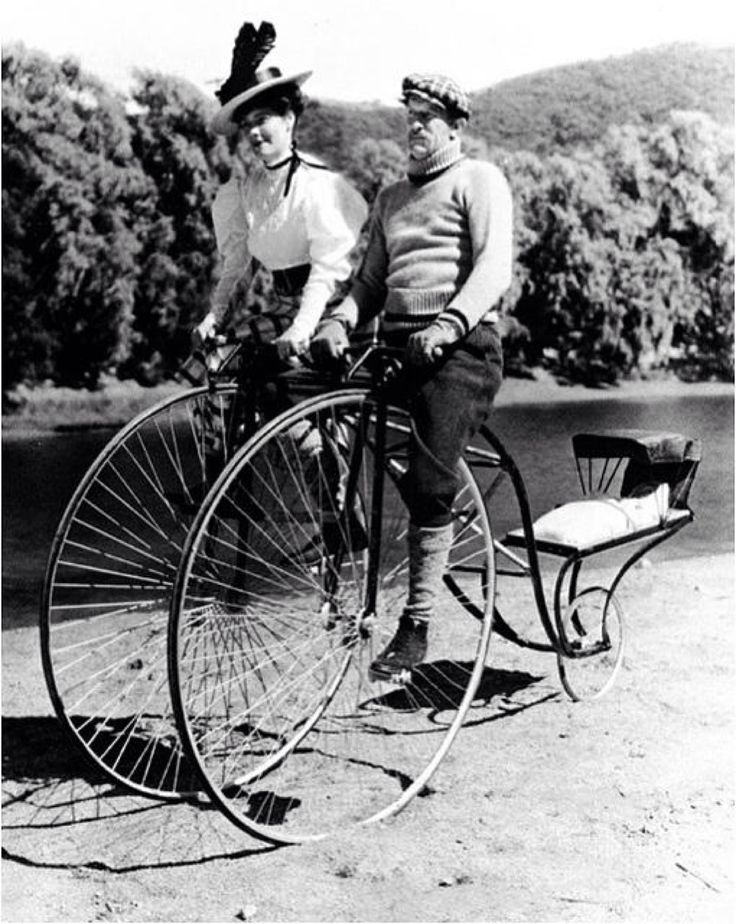 A unique Penny Farthing built for three.