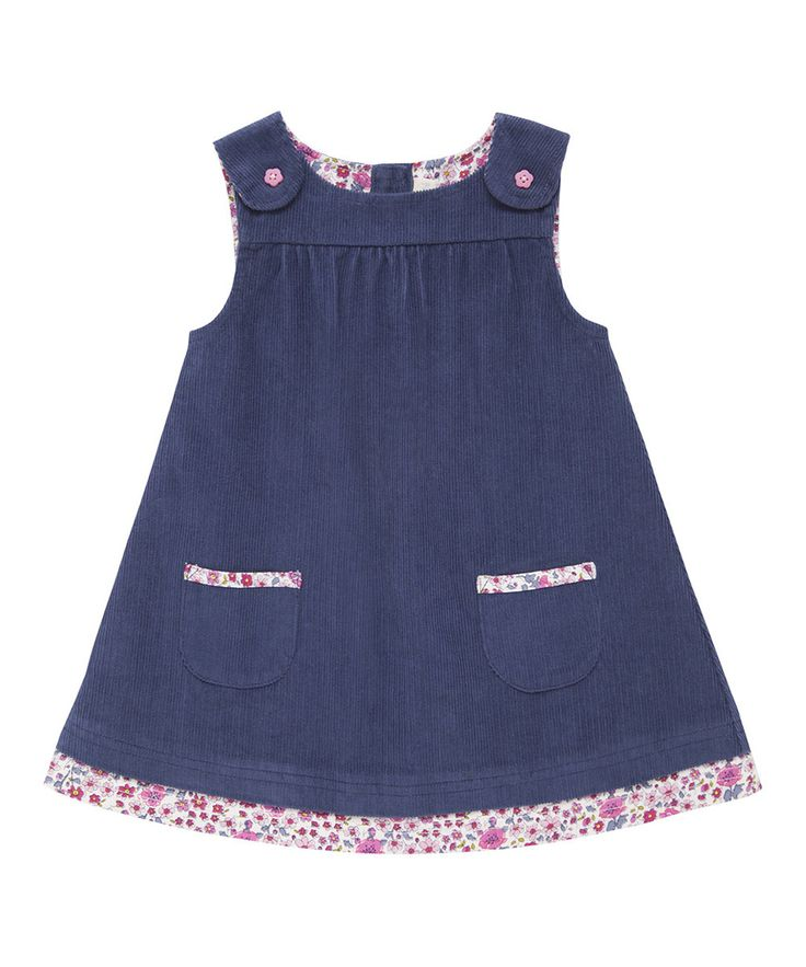 Look at this JoJo Maman Bébé China Blue Floral Corduroy Jumper - Infant, Toddler