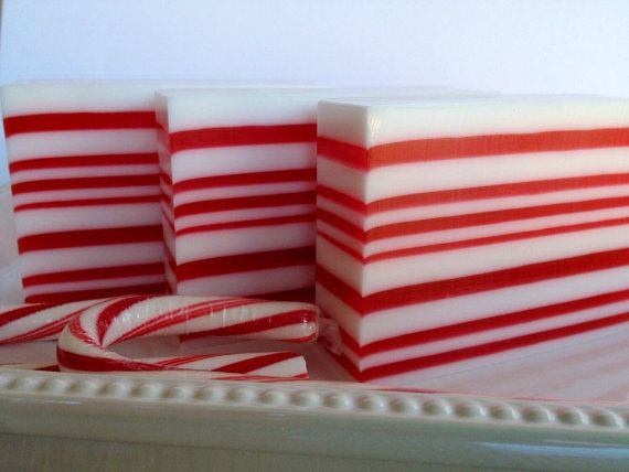 Candy Cane Soap Christmas Soap Holiday Soap Christmas