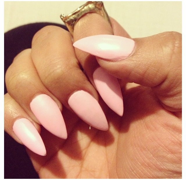 Stiletto nails light pink youtube