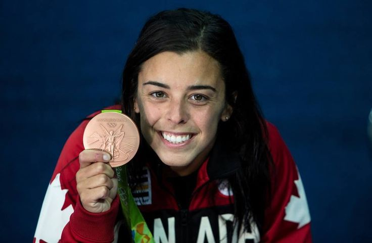 Meaghan Benfeito with a golden smile