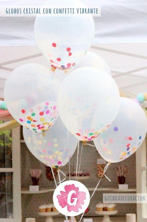 globos transparentes con confeti !!! confetti - papel picado
