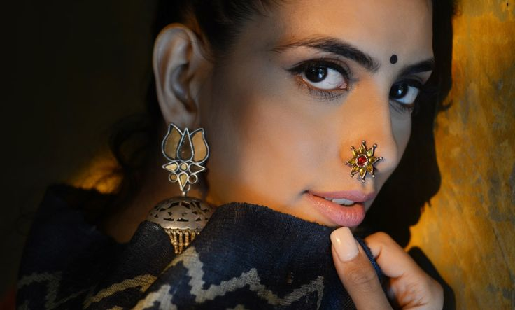 Buy A Silver Tradition by Shree Jewellers Handcrafted silver and glass nose pins, rings, earrings and more Online at Jaypore.com